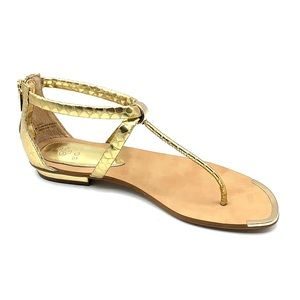 Isola size 7.5 gold flat sandals